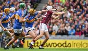 6 August 2017; Jason Flynn of Galwayis tackled by Tipperary captain Padraic Maher, 7, during the GAA Hurling All-Ireland Senior Championship Semi-Final match between Galway and Tipperary at Croke Park in Dublin. Photo by Ray McManus/Sportsfile
