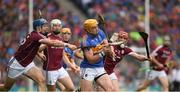 6 August 2017; Padraic Maher of Tipperary is hooked by Conor Cooney of Galway during the GAA Hurling All-Ireland Senior Championship Semi-Final match between Galway and Tipperary at Croke Park in Dublin. Photo by Ray McManus/Sportsfile