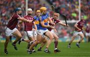 6 August 2017; Padraic Maher of Tipperary is tackled by Conor Cooney, left, of Galway during the GAA Hurling All-Ireland Senior Championship Semi-Final match between Galway and Tipperary at Croke Park in Dublin. Photo by Ray McManus/Sportsfile