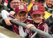 6 August 2017; Galway supporters Ronan Reynolds, 6, and Conor, left, 8 years at the GAA Hurling All-Ireland Senior Championship Semi-Final match between Galway and Tipperary at Croke Park in Dublin. Photo by Ray McManus/Sportsfile