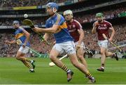 6 August 2017; John McGrath of Tipperary gets past Daithí Burke of Galway during the GAA Hurling All-Ireland Senior Championship Semi-Final match between Galway and Tipperary at Croke Park in Dublin. Photo by Piaras Ó Mídheach/Sportsfile