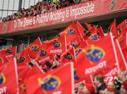 8 April 2012; Munster supporters ahead of the game. Heineken Cup Quarter-Final, Munster v Ulster, Thomond Park, Limerick. Picture credit: Stephen McCarthy / SPORTSFILE