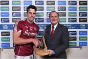 6 August 2017; Declan Heneghan, General Manager of Westport Hotel, and a Bord Gáis Energy customer, presents the man of the match award to Gearoid McInerney of Galway after the GAA Hurling All-Ireland Senior Championship Semi-Final match between Galway and Tipperary at Croke Park in Dublin. Photo by Ramsey Cardy/Sportsfile
