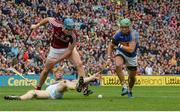 6 August 2017; Pádraic Maher of Tipperary, supported by team-mate James Barry, right, in action against Conor Cooney of Galway during the GAA Hurling All-Ireland Senior Championship Semi-Final match between Galway and Tipperary at Croke Park in Dublin. Photo by Piaras Ó Mídheach/Sportsfile