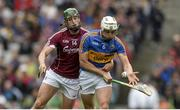 6 August 2017; Ronan Maher of Tipperary in action against Niall Burke of Galway during the GAA Hurling All-Ireland Senior Championship Semi-Final match between Galway and Tipperary at Croke Park in Dublin. Photo by Piaras Ó Mídheach/Sportsfile