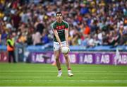 7 August 2017; Lee Keegan of Mayo, who was named to start but subsequently didn't, during the warm-up ahead of the GAA Football All-Ireland Senior Championship Quarter-Final Replay match between Mayo v Roscommon at Croke Park, in Dublin. Photo by Daire Brennan/Sportsfile