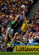 7 August 2017; Paddy Durcan of Mayo in action against Diarmuid Murtagh of Roscommon during the GAA Football All-Ireland Senior Championship Quarter-Final Replay match between Mayo v Roscommon at Croke Park, in Dublin. Photo by Ray McManus/Sportsfile