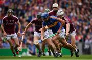 6 August 2017; Patrick Maher of Tipperary in action against Adrian Tuohy of Galway during the GAA Hurling All-Ireland Senior Championship Semi-Final match between Galway and Tipperary at Croke Park in Dublin. Photo by Ramsey Cardy/Sportsfile