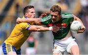 7 August 2017; Andy Moran of Mayo is tackled by Sean McDermott of Roscommon during the GAA Football All-Ireland Senior Championship Quarter Final replay match between Mayo and Roscommon at Croke Park in Dublin. Photo by Ramsey Cardy/Sportsfile