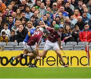 6 August 2017; Padraig Mannion, 5,  and Adrian Tuohy of Galway in action against Patrick Maher of Tipperary during the GAA Hurling All-Ireland Senior Championship Semi-Final match between Galway and Tipperary at Croke Park in Dublin. Photo by Ray McManus/Sportsfile