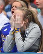 7 August 2017; A Roscommon supporter reacts after a Mayo goal during the GAA Football All-Ireland Senior Championship Quarter Final replay match between Mayo and Roscommon at Croke Park in Dublin. Photo by Ramsey Cardy/Sportsfile