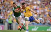 7 August 2017; Diarmuid Murtagh of Roscommon in action against Brendan Harrison of Mayo during the GAA Football All-Ireland Senior Championship Quarter Final replay match between Mayo and Roscommon at Croke Park in Dublin. Photo by Ramsey Cardy/Sportsfile