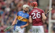 6 August 2017; Ronan Maher of Tipperary with Jonathan Glynn of Galway during the GAA Hurling All-Ireland Senior Championship Semi-Final match between Galway and Tipperary at Croke Park in Dublin. Photo by Piaras Ó Mídheach/Sportsfile