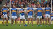 6 August 2017; Tipperary players, from left, Brendan Maher, Patrick Maher, John O'Dwyer, John McGrath, Noel McGrath and Michael Breen stand for the National Anthem before the GAA Hurling All-Ireland Senior Championship Semi-Final match between Galway and Tipperary at Croke Park in Dublin. Photo by Piaras Ó Mídheach/Sportsfile