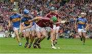 6 August 2017; Adrian Tuohy of Galway in action against John McGrath of Tipperary during the GAA Hurling All-Ireland Senior Championship Semi-Final match between Galway and Tipperary at Croke Park in Dublin. Photo by Piaras Ó Mídheach/Sportsfile