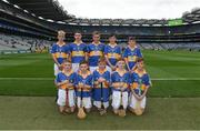 6 August 2017; The Tipperary team, back row, left to right, Donagh Cooney, Ballygunner  NS, Waterford, Diarmuid Donnellan, Ballinamoney National School, Bailieborough, Cavan, Harry Codd, Rathnure NS, Enniscorthy, Wexford, Michael Sheridan, Corballa NS, Sligo, Eddie Ó Cochlán, Scoil na nÓg, Gleannn Maghair, Cork, front row, left to right, James O'Dwyer, Gaile NS, Holycross, Tipperary, Orrin O'Connor, St Patrick's Primary School, Glenariff, Antrim, Nathan Horsfield, St Patrick's PS, Roan, Eglish, Dungannon, Tyrone, Liam Óg Coyle, Tisrara NS, Four Roads, Roscommon, and Michael Burns, St Columban's PS, Belcoo, Fermanagh ahead of the INTO Cumann na mBunscol GAA Respect Exhibition Go Games at Galway v Tipperary - GAA Hurling All-Ireland Senior Championship Semi-Final at Croke Park in Dublin. Photo by Daire Brennan/Sportsfile