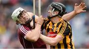 6 August 2017; Conor Flynn of Kilkenny in action against Jack Canning of Galway during the Electric Ireland GAA Hurling All-Ireland Minor Championship Semi-Final match between Kilkenny and Galway at Croke Park in Dublin. Photo by Piaras Ó Mídheach/Sportsfile