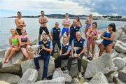 "8 August 2017; The 87th Dún Laoghaire Harbour Race takes place on Sunday next 13th August with over 300 swimmers taking to the waters of Dún Laoghaire Harbour. As this year also marks the Bicentenary of Dún Laoghaire Harbour, the race will be a special occasion for sea swimmers, spectators and the citizens of Dún Laoghaire. Each weekend from June to September Leinster Open Sea in partnership with the swimming clubs of Leinster run approximately forty Open Sea Races along the coast of Dublin and Wicklow. The Dún Laoghaire Harbour Race along with the Jones Engineering Dublin City Liffey Swim are the top two ""blue ribbon"" races on the Open Sea Calendar in Ireland. In attendance at the launch in Dun Laoghaire Harbour in Dún Laoghaire, Co. Dublin, are from left, Alison Burke, Paul O'Flynn, Orla Walsh, Josh Reilly, Conor Kearney, MD, CJK Engineering, Brian Nolan, Leinster Open Sea, Sean Nolan, Sarah Keane, CEO, Swim Ireland, Frank Chattem, Chairman, Leinster Open Sea, Gerry Dunne, CEO, Dun Laoghaire Harbour Company, Saokia Blake, Maria Schafer, Maeve Keenan and Johanna Pinto Lee. Photo by Brendan Moran/Sportsfile"