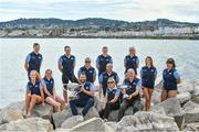 "8 August 2017; The 87th Dún Laoghaire Harbour Race takes place on Sunday next 13th August with over 300 swimmers taking to the waters of Dún Laoghaire Harbour. As this year also marks the Bicentenary of Dún Laoghaire Harbour, the race will be a special occasion for sea swimmers, spectators and the citizens of Dún Laoghaire. Each weekend from June to September Leinster Open Sea in partnership with the swimming clubs of Leinster run approximately forty Open Sea Races along the coast of Dublin and Wicklow. The Dún Laoghaire Harbour Race along with the Jones Engineering Dublin City Liffey Swim are the top two ""blue ribbon"" races on the Open Sea Calendar in Ireland. In attendance at the launch in Dun Laoghaire Harbour in Dún Laoghaire, Co. Dublin, are from left, Paul O'Flynn, Alison Burke, Orla Walsh, Josh Reilly, Conor Kearney, MD, CJK Engineering, Brian Nolan, Leinster Open Sea, Sean Nolan, Frank Chattem, Chairman, Leinster Open Sea, Sarah Keane, CEO, Swim Ireland, Gerry Dunne, CEO, Dun Laoghaire Harbour Company, Maria Schafer, Maeve Keenan and Johanna Pinto Lee. Photo by Brendan Moran/Sportsfile"