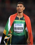 8 August 2017; Wayde Van Niekerk of South Africa after winning the Men's 400m final during day five of the 16th IAAF World Athletics Championships at the London Stadium in London, England. Photo by Stephen McCarthy / Sportsfile