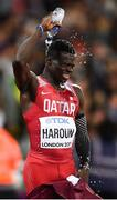 8 August 2017; Abdalelah Haroun of Qatar after finishing third in final of the Men's 400m event during day five of the 16th IAAF World Athletics Championships at the London Stadium in London, England. Photo by Stephen McCarthy/Sportsfile