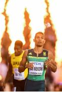 8 August 2017; Wayde van Niekerk of South Africa after winning the final of the Men's 400m event during day five of the 16th IAAF World Athletics Championships at the London Stadium in London, England. Photo by Stephen McCarthy/Sportsfile