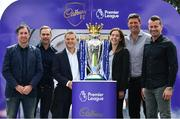 9 August 2017; England and Liverpool football legend, Robbie Fowler, touched down in Dublin today to join Cadbury Premier League ambassadors and Irish football heroes, Niall Quinn, Shay Given and his former Liverpool teammate Jason McAteer, to officially launch Cadbury's brand new partnership with the Premier League, to become their 'Official Snack Partner'. Accompanied by the Premier League Trophy, the four footballing greats descended on Dublin's Sean O'Casey Bridge this afternoon, which Cadbury transformed into a replica players' tunnel to celebrate their sponsorship launch – giving pedestrians a momentary snapshot of the atmosphere players experience, as they are led on to a pitch. In attendance at the launch are, from left, Robbie Fowler, Cadbury Premier League Ambassador Jason McAteer, Managing Director Mondelez Ireland Eoin Kellett, Cadbury Ireland Brand Manager Mary Moran, Cadbury Premier League Ambassadors Niall Quinn and Shay Given. Photo by Brendan Moran/Sportsfile