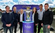 9 August 2017; England and Liverpool football legend, Robbie Fowler, touched down in Dublin today to join Cadbury Premier League ambassadors and Irish football heroes, Niall Quinn, Shay Given and his former Liverpool teammate Jason McAteer, to officially launch Cadbury's brand new partnership with the Premier League, to become their 'Official Snack Partner'. Accompanied by the Premier League Trophy, the four footballing greats descended on Dublin's Sean O'Casey Bridge this afternoon, which Cadbury transformed into a replica players' tunnel to celebrate their sponsorship launch – giving pedestrians a momentary snapshot of the atmosphere players experience, as they are led on to a pitch. In attendance at the launch are from left, Robbie Fowler, Cadbury Premier League Ambassador Jason McAteer, Managing Director Mondelez Ireland, Eoin Kellett, Cadbury Ireland Brand Manager Mary Moran, Cadbury Premier League Ambassadors Niall Quinn and Shay Given. Photo by Brendan Moran/ Sportsfile