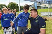 9 August 2017; Jake McInerney with Leinster's Tadhg Furlong during the Bank of Ireland Leinster Rugby Summer Camp at De La Salle RFC in Glenamuck North, Dublin. Photo by Matt Browne/Sportsfile