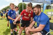 9 August 2017; Cillian O'Leary with Leinster's Sean O'Brien during the Bank of Ireland Leinster Rugby Summer Camp at De La Salle RFC in Glenamuck North, Dublin. Photo by Matt Browne/Sportsfile