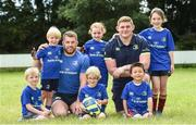9 August 2017; Leinster's Sean O'Brien and Tadhg Furlong with from left Andrew Olliffe Bolton, Micheal Butler, Jamie MacAuley, Lorna King, Jiarui Yu and Gwen Delaney during the Bank of Ireland Leinster Rugby Summer Camp at De La Salle RFC in Glenamuck North, Dublin. Photo by Matt Browne/Sportsfile