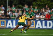9 August 2017; Katie Fitzhenry of Ireland is tackled by Mahalia Murphy of Australia during the 2017 Women's Rugby World Cup Pool C match between Ireland and Australia at the UCD Bowl in Belfield, Dublin. Photo by Eóin Noonan/Sportsfile