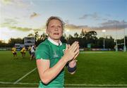 9 August 2017; Claire Molloy of Ireland after the 2017 Women's Rugby World Cup Pool C match between Ireland and Australia at the UCD Bowl in Belfield, Dublin. Photo by Eóin Noonan/Sportsfile