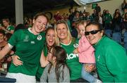 9 August 2017; Marie Louise Reilly of Ireland poses for a picture with supporters after the 2017 Women's Rugby World Cup Pool C match between Ireland and Australia at the UCD Bowl in Belfield, Dublin. Photo by Eóin Noonan/Sportsfile