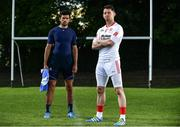 10 August 2017; SKINS ambassador Cian O'Sullivan, left, and Tyrone Senior Footballer Mattie Donnelly pictured at the launch of the new SKINS DNAmic TEAM range. The sports compression wear leader SKINS, have stepped up their on-field performance range through DNAmic TEAM. The range is designed exclusively for the demands of team sport. Check out skins.net for detailed information. Photo by Sam Barnes/Sportsfile