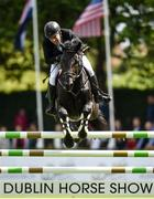 10 August 2017; Cian O'Connor of Ireland competing on Copain du Perchet CH on their way to a 5th place finish in The Speed Derby by The Clayton Hotel Ballsbridge at Dublin Horse Show at the RDS in Ballsbridge, Dublin. Photo by Cody Glenn/Sportsfile
