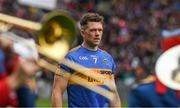6 August 2017; Tipperary captain Pádraic Maher leads his team-mates in the parade behind the Artane School of Music Band before the GAA Hurling All-Ireland Senior Championship Semi-Final match between Galway and Tipperary at Croke Park in Dublin. Photo by Piaras Ó Mídheach/Sportsfile