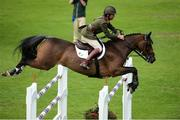 10 August 2017; Capt. Geoff Curran competing on Ringwood Glen during the Anglesea Serpentine Stakes at Dublin Horse Show at the RDS in Ballsbridge, Dublin. Photo by Cody Glenn/Sportsfile