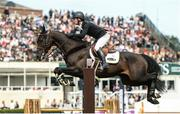 10 August 2017; Richard Howley of Ireland competing on Chinook during the Anglesea Serpentine Stakes at the Dublin Horse Show at the RDS in Ballsbridge, Dublin. Photo by Cody Glenn/Sportsfile