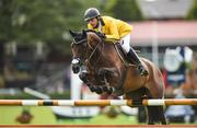 10 August 2017; Yuri Mansur Guerios of Brazil competing on Unita Ask during the Anglesea Serpentine Stakes at the Dublin Horse Show at the RDS in Ballsbridge, Dublin. Photo by Cody Glenn/Sportsfile