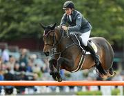 10 August 2017; Clem McMahon of Ireland competing on Paparazzi during the Anglesea Serpentine Stakes at Dublin Horse Show at the RDS in Ballsbridge, Dublin. Photo by Cody Glenn/Sportsfile