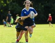 9 August 2017; Leah Browne in action against Ailison Kelly during the Bank of Ireland Leinster Rugby School of Excellence event at Kings Hospital in Palmerstown, Dublin. Photo by Matt Browne/Sportsfile