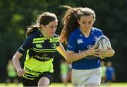 9 August 2017; Emma Larkin in action against Grace Butler during the Bank of Ireland Leinster Rugby School of Excellence event at Kings Hospital in Palmerstown, Dublin. Photo by Matt Browne/Sportsfile