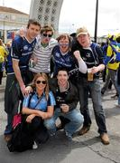 29 April 2012; Leinster supporters, front, from left, Aoife Doyle, Colin Barrett, with back, from left, Shane Brosnan, Steve Chadwick, Patrick Teahan and Niall Teahan, before the game. Heineken Cup Semi-Final, ASM Clermont Auvergne v Leinster, Stade Chaban Delmas, Bordeaux, France. Picture credit: Brendan Moran / SPORTSFILE