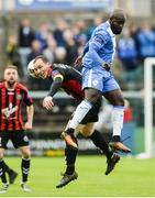 11 August 2017; Derek Pender of Bohemians in action against Pascal Millien of Finn Harps during the Irish Daily Mail FAI Cup First Round match between Finn Harps and Bohemians at Finn Park in Ballybofey, Donegal. Photo by Oliver McVeigh/Sportsfile