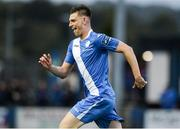 11 August 2017; Killian Cantwell of Finn Harps celebrates after scoring his sides first goal during the Irish Daily Mail FAI Cup First Round match between Finn Harps and Bohemians at Finn Park in Ballybofey, Donegal. Photo by Oliver McVeigh/Sportsfile