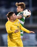 11 August 2017; Derek Doyle of Glenville in action against Ronan Finn of Shamrock Rovers during the Irish Daily Mail FAI Cup first round match between Shamrock Rovers and Glenville at Tallaght Stadium in Tallaght, Dublin. Photo by Matt Browne/Sportsfile