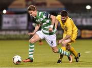 11 August 2017; Ronan Finn of Shamrock Rovers in action against Rory Kelly of Glenville during the Irish Daily Mail FAI Cup first round match between Shamrock Rovers and Glenville at Tallaght Stadium in Tallaght, Dublin. Photo by Matt Browne/Sportsfile