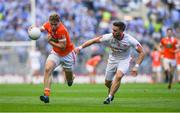 5 August 2017; Oisin O'Neill of Armagh in action against Pádraig Hampsey of Tyrone during the GAA Football All-Ireland Senior Championship Quarter-Final match between Tyrone and Armagh at Croke Park in Dublin. Photo by Ramsey Cardy/Sportsfile