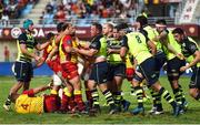 11 August 2017; Both teams tussle during the Pre-season Friendly match between USA Perpignan and Leinster at Aimé Giral Stadium in Perpignan, France. Photo by Alexandre Dimou/Sportsfile